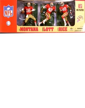 McFarlane Toys NFL Sports Picks Exclusive Action Figure 3Pack Joe Montana, Jerry Rice Ronnie Lott (San Francisco 49ers)