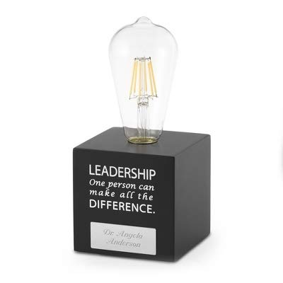 Things Remembered Personalized Leadership Light Bulb Award with Engraving Included