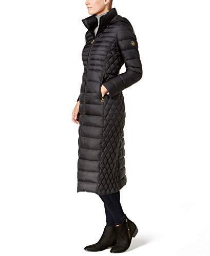 Michael Kors Womens Packable Maxi Down Puffer Coat Black XS]()