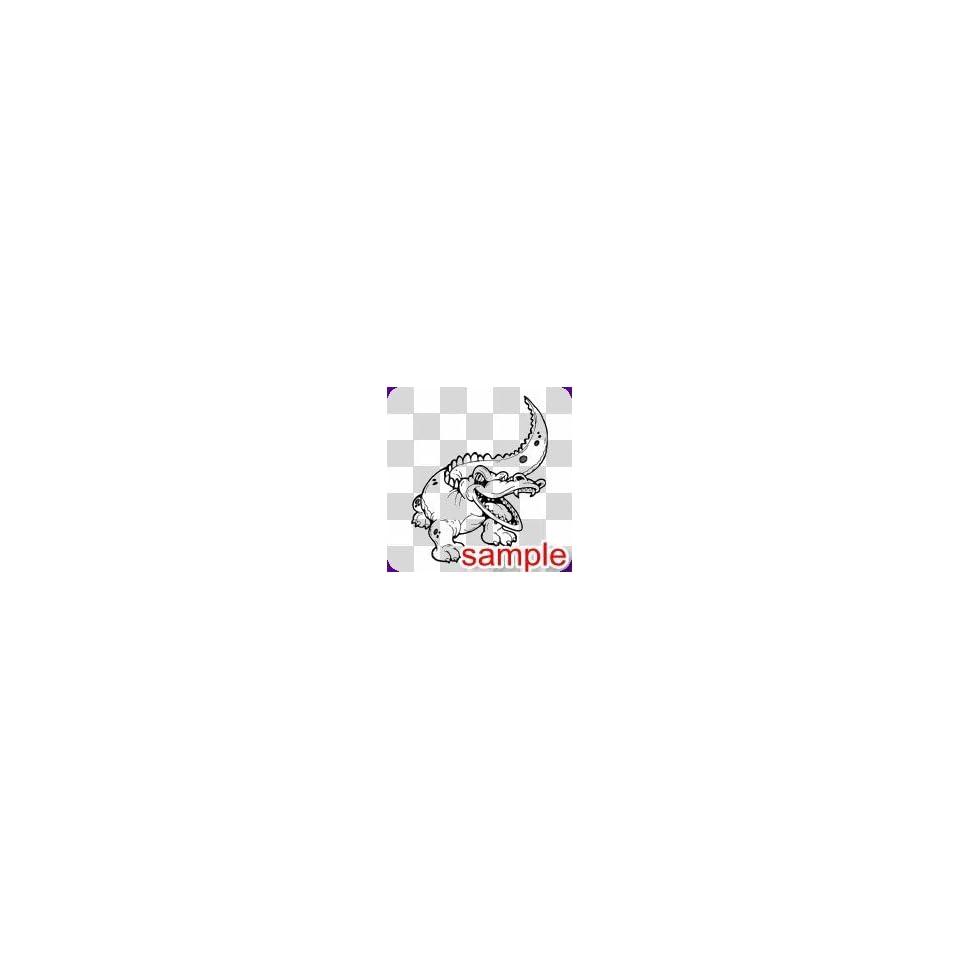 ANIMALS ALLIGATOR 12.5 WHITE VINYL DECAL STICKER