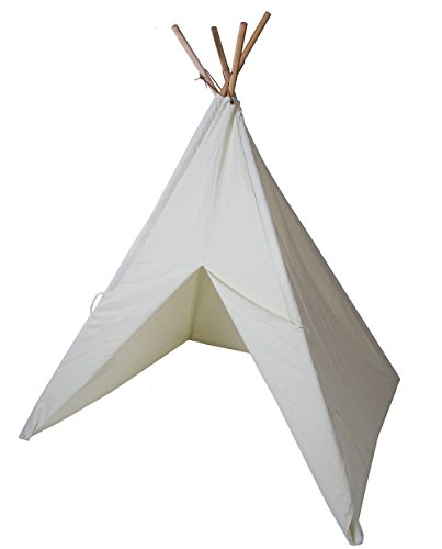 Pacific Play Tents Kids 'The Painting' Cotton Canvas Teepee with paints - 45'' x 45'' x 64'' by Pacific Play Tents