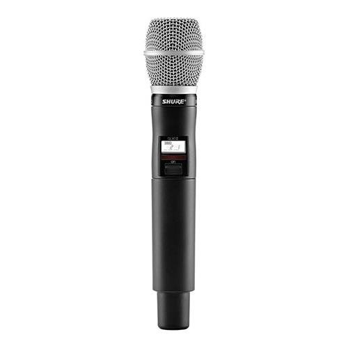 Shure QLXD2 Handheld Wireless Microphone Transmitter with SM86 Cartridge, H50 534-598 MHz - Sm86 Condenser Microphone