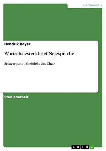 Amazon.com: Wortschatzsteckbrief Netzsprache: Schwerpunkt ...