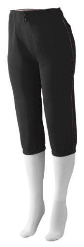 Augusta Sportswear Ladies Low Rise Drive Pant, Black/Black, Large (Womens Softball Dazzle Shorts)