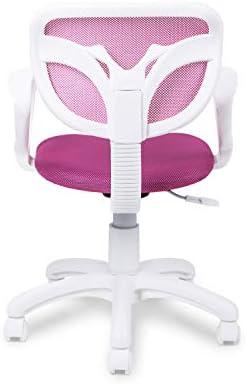 Adec - Touch, Silla de Escritorio giratoria, Silla Juvenil de Oficina, Color Rosa, Medidas: 54 cm (Ancho) x 54 cm (Fondo) x 93-105 cm (Alto) 25