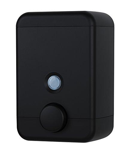 HOMEPLUZ Cube Wall-Mounted Soap Dispenser (25oz) - Durable, Refillable Liquid Soap Pump (Black)