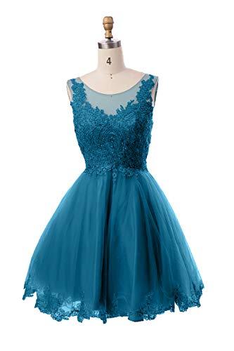 Promkleider Abendkleider Cocktailkleider Mini Rock Damen Linie Kurzes Blau Partykleider Spitze Suessig A Charmant x8YqXBx
