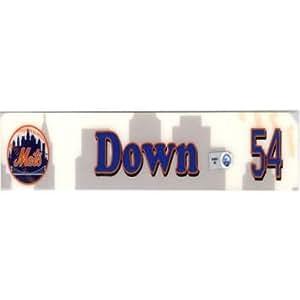 Rick Down #54 2007 Game Used Locker Room Name Plate - Sports Memorabilia