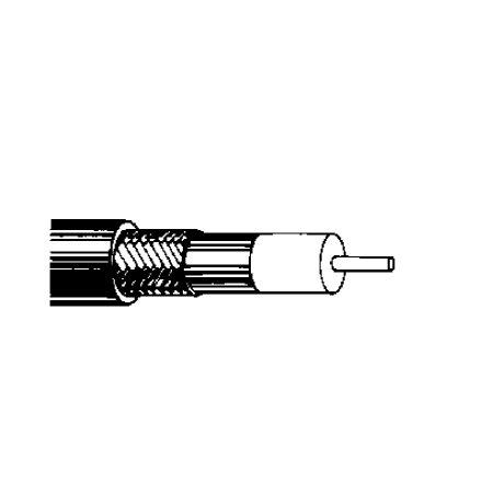 95% Copper Shield (100' Belden 9913F7 10 AWG PVC Jacket Bare Copper Braid Shield Black Matte Coax RG8/U Type Cable)