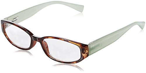 Wink Fancy Tort Face Reading Glass with Aqua Temples and Suede Case, 2.50, 0.200 Ounce