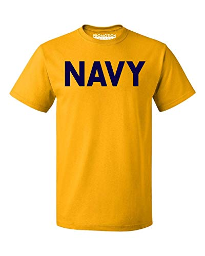 - Promotion & Beyond Military Gear Navy Training PT Men's T-Shirt, M, Gold