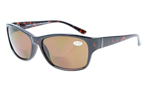 Eyekepper Bi-Focal SunReaders Fashion Bifocal Sunglasses Tortoise/Brown Lens - Sunglasses 2.5