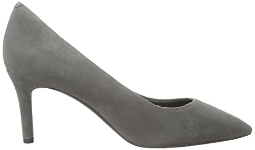 Rockport Damen Totale Beweging 75mm Puntige Teen Pompt Silber (eiffeltoren Kid Suede)