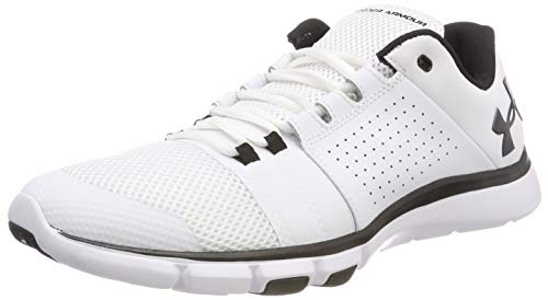 Under Armour UA Strive 7, Scarpe Sportive Indoor Uomo Bianco (White)