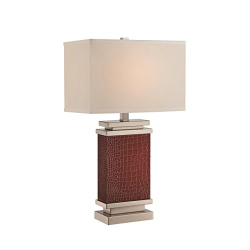 Kelis Leather Wrapped Table Lamp, Brown ()