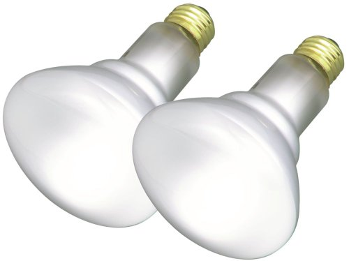 Satco S3417 65 Watt BR30 Frosted Indoor Reflector Flood Light Bulbs with Medium Base - 2 per Package