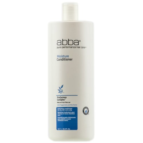 ABBA Moisture Conditioner, 33.8 Fl Oz (Abba Pure Performance Hair Care Moisture Shampoo)