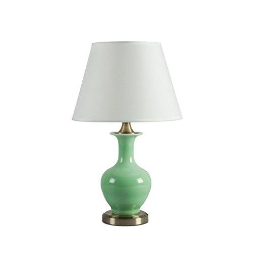 Escritorio Lámpara de Mesa de cerámica de cerámica Simple Verde ...