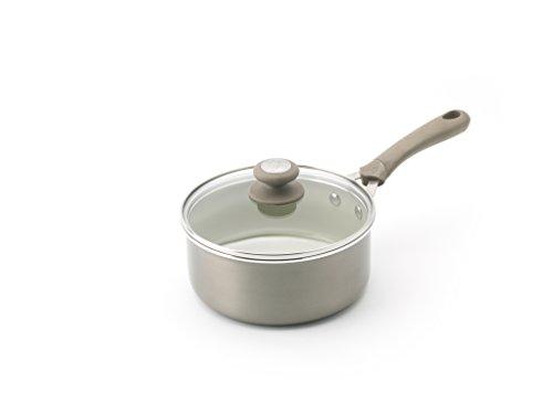 Trisha Yearwood Cottage Precious Metals 14 Piece Non-Stick Ceramic Cookware Set, Titanium