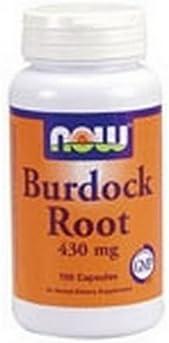 NOW Burdock Root 430mg , 100 Capsules (Pack of 4)