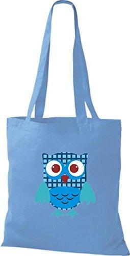 Algodón Claro Para De Mujer Bolso Shirtinstyle Tela Azul tZacAzqP