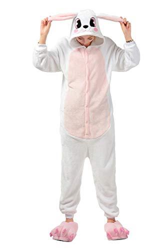 Coniglio Costume Unicorno Rosa Party Animale Natale Halloween Onesie Compleanno InteroTuta Adulto Anime Cosplay Kigurumi Animali Landove Regalo di Unisex di Pigiama Carnevale wP1qF0EFR