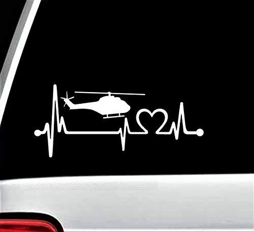 Bluegrass Decals K1165 Helicopter Heartbeat Lifeline Decal Sticker