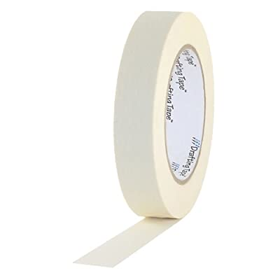 """ProTapes Pro Drafting Crepe Paper Industrial Grade Masking Tape, 60 yds Length x 1/2"""" Width (Pack of 1)"""