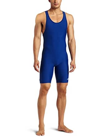 ASICS Men's Solid Modified Singlet, Royal, X-Small
