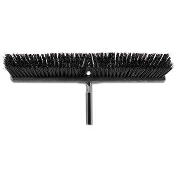 Heavy Duty Push Broom Rough Surface, 24'' X 3'', Black, Polypropylene, 12/carton