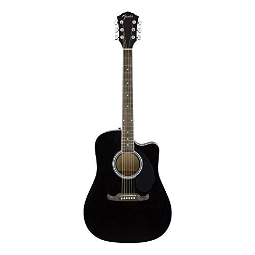 Fender-FA-125CE-Dreadnought-Acoustic-Guitar-Walnut-Fretboard-Black
