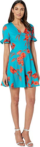 Ted Baker Women's Chynaa Dress Turquoise 4 ()