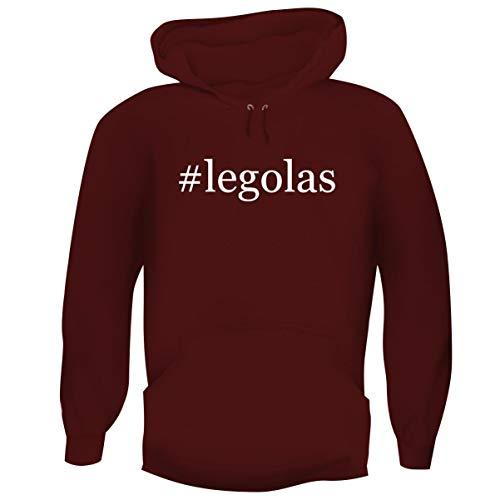 One Legging it Around #Legolas - Hashtag Men's Funny Soft Adult Hoodie Pullover, Maroon, XXX-Large