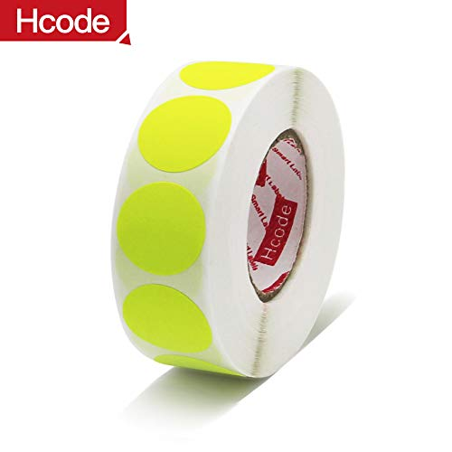 Hcode 1 Inch Color Coding Label Price Stickers Garage Sale Stickers Blank Yard Sale Round Permanent Adhesive Dots Stickers Glossy Writable Paper Labels 1000 Pieces