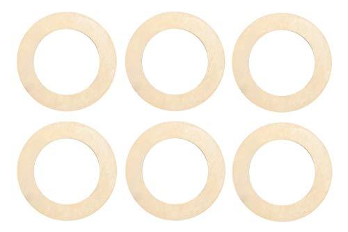 6/Pk of 24 Gauge Large Brass Round Circular Ring Blanks 1-3/8