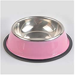 Drinking Bowl for Dogs Pet Dry Food Cat Bowls Pink Dog Bowls Outdoor Drinking Water Fountain Pet Dog Dish Feeder Goods 30D Yellow XL