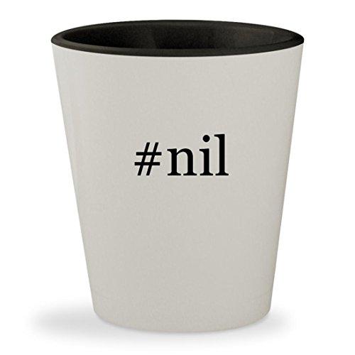 Price comparison product image #nil - Hashtag White Outer & Black Inner Ceramic 1.5oz Shot Glass