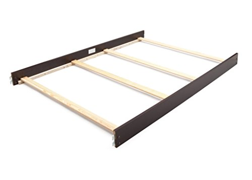 Full Size Conversion Kit Bed Rails for Bonavita Bradlee, Casey, Easton, Francais, Gibson, Harper, Hudson, Kinsley, La Madre, Liberty, Metro, New Castle, Sawyer & Westfield Cribs - Dark Roast ()