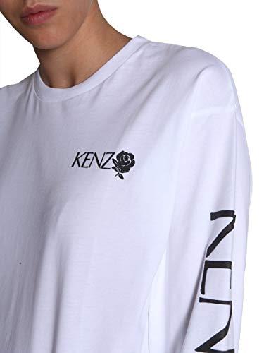 Blanc Coton shirt Kenzo T Femme F952ts77598701 EaqPYn0g