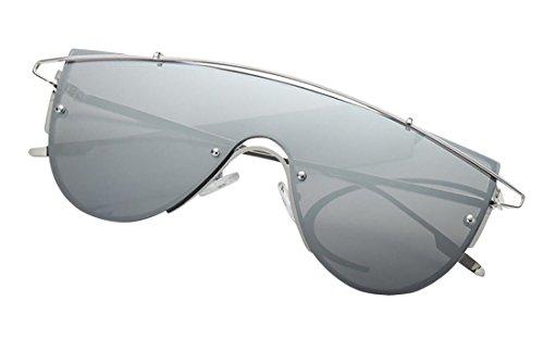 uso para Tide Silver personal de de Frame hombre ultravioleta Aviador polarizadas y sol de mujer Siliver Gafas para Anti Gafas sol JYR Gafas Oqaw6R6
