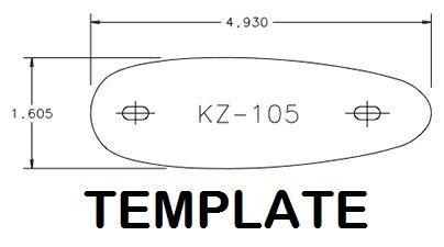KICK-EEZ KZ-105 Pre fit recoil pad