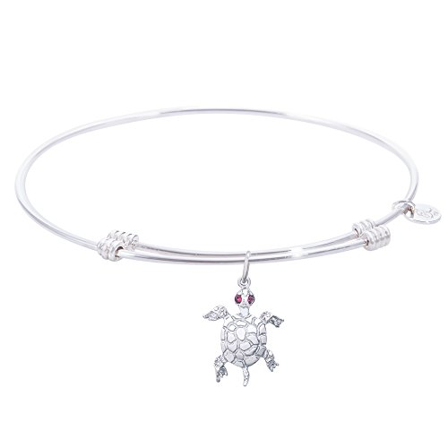 Rembrandt Turtle Charm Expandable Wire 'Tranquil' Bangle, Sterling -