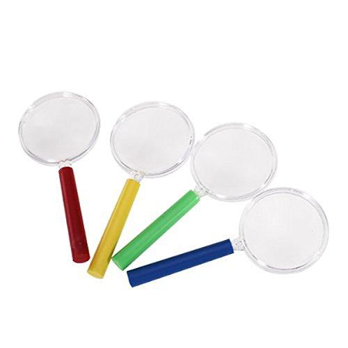 Toymytoy Loupe jouet enfant Kindergarden Loupe Plastique Mini loupe Lot de 4 pcs (couleur alé atoire)