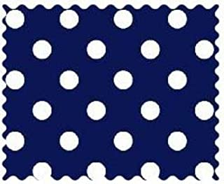 product image for SheetWorld 100% Cotton Percale Fabric by The Yard, Primary Polka Dots Navy Woven, 36 x 44
