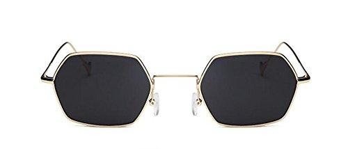 cercle B Frêne Lennon métallique style de Morceau soleil du en rond vintage lunettes polarisées inspirées Noir retro de qFwcTvZf