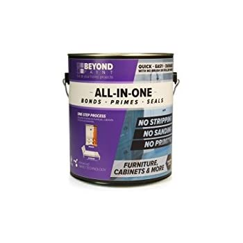Beyond Paint Furniture, Cabinets and More All-in-One Refinishing Paint Gallon, No Stripping, Sanding or Priming Needed, Off White