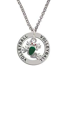 Mini Green Tree Frog - Volleyball Affirmation Ring ()