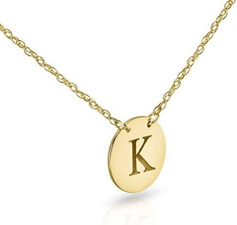 Kobelli Personalized Initial Pendant 14k Yellow Gold