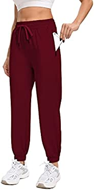 GALASALA Sweatpants for Women with Zippier Pockets Athletic Joggers Workout Lounge Pants, Lightweight Jogging
