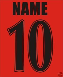 BLACK NAME & NUMBER IRON ON LETTERING